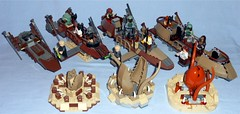 Lego - Skiff Comparison (Darth Ray) Tags: lego star wars skiff comparison 7104 desert 6210 jabbas sailbarge 9496 75174 escape sarlacc jabba