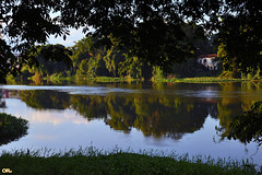 Old house by the river III (Otacílio Rodrigues) Tags: rio river casa house árvores trees água water reflexos reflections natureza nature urban resende brasil oro margem riverbank serene supershot topf25