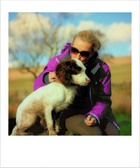 "Just a snapshot! (1) ""Explored"" (Missy Jussy) Tags: justinestuttard missyjussy rupert rupertbear women girl dog dogwalk englishspringer springerspaniel spaniel puppy mansbestfriend outdoor outside countryside snapshot canon canon5dmarkll 50mm ef50mmf18ll canon50mm"