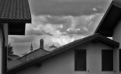 Riquadro di cielo 2 (Massimo Caccia) Tags: cielo nuvole campanile biancoenero bw bnw blackandwhite blackwhite bianconero monocromo monochrome