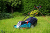 140/365 It's a Man Thing ([inFocus]) Tags: canon 50mm 5d 5dmkiv 50mmf12 365 3652017 project365 bosch lawn lawnmower powertool garden grass green colour man