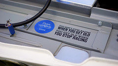 """You get old when you stop racing"" (Eric Flexyourhead) Tags: northvancouver canada britishcolumbia bc waterfrontpark 2017 germancarfestival german car detail fragment bmw 2002 bmw2002 race racecar motorsport vintageracer vintageracing enginebay sticker drivetastefully petrolicious shallowdepthoffield 169 sonyalphaa7 zeisssonnartfe55mmf18za zeiss 55mmf18"