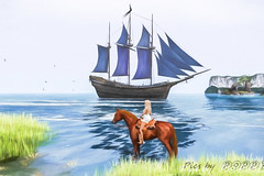 Calas-11_1 Edit (Poppys_Second_Life) Tags: popi popikonesadventuresin2l popisadventuresin2l 2l secondlife virtualphotography poppy picsbyⓟⓞⓟⓟⓨ sl waterhorse bento calas ship boat riding horseriding