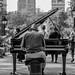 The pianist, Washington Square