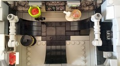 Jabba the Hutt's TIE Fighter - Interior empty (Evilkirk) Tags: starwars lego jabba hutt tie fighter moc