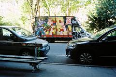 FD (lepublicnme) Tags: 200 analog argentique expired film kodacolor kodak france paris july 2015 graffiti fd truck