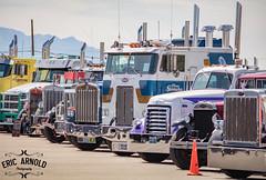 Las Vegas Truck Show 2017 (Eric Arnold Photography) Tags: lvts vegas las truck show big rig semi tractor trailer chrome peterbilt kenworth lineup 2017 lvms motor speedway bullring lasvegasmotorspeedway lasvegastruckshow cabover cab gmc