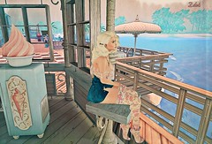 Cuddling with you would be perfect right now (MissZafire) Tags: sunny secondlife sl beach virtual girls blonde cartoons games babes waves lovely cute pretty