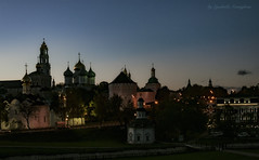 Sergiev Posad in the evening (Lyutik966) Tags: sergievposad trinitysergiuslavra monastery religion orthodoxy city architecture church tower temple belltower chapel dome cross russia night cityscape