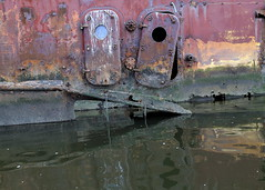 Doors To Davy Jones' Locker (95wombat) Tags: abandoned decay rotted tattered crusty rusty marinegraveyard arthurkill statenisland newyork