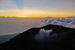 Minute before Sunrise (Vinchel) Tags: indonesia bali gunung agung volcano outdoor mountain trekking hiking landscape sony rx1m2 sky cloud