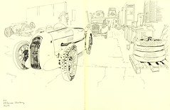MG H.H.Services - Strasbourg (lolo wagner) Tags: croquis dessin sketch strasbourg voiture car carrosserie alsace