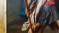 David, Oath of the Horatii, hand on spear