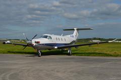 M-DRIL Pilatus PC-12 EGHH 5/5/17 (David K- IOM Pics) Tags: m manx registration mdril pilatus c12 bournemouth hurn boh eghh airport
