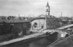 Chiesa di San Cristoforo sul Naviglio 1927 (Milàn l'era inscì) Tags: urbanfile milanl'erainscì milano milan oldpicture milanosparita vecchiefoto san cristoforo