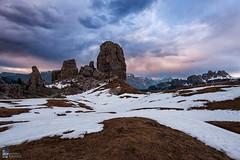 Storm (Edoardo Brotto) Tags: storm dolomites sunset alps cinque torri