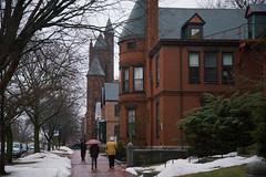 Rainy Early Spring Day on State Street (Corey Templeton) Tags: city newengland other portland portlandmaine rain sidewalk spring statestreet umbrella maine unitedstates