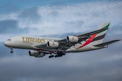 Airbus A380-861 - Emirates Airline A6-EUG - AMS/EHAM Amsterdam Airport (Schiphol) (Frans Berkelaar) Tags: oudemeer noordholland nederland nl ams schiphol amsterdamairport aalsmeerderdijk aalsmeerderbrug eham vliegtuig airplane flugzeug avion avión aalsmeerbaan 18l36r airbus airbusa380 airbusa380861 emiratesairline olympusm40150mmf28 haarlemmermeer a6eug