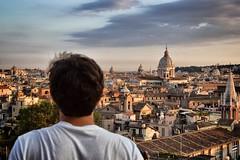 La mia carissima città (Japo García) Tags: roma alto ciudad mirar pincio cúpula techos skyline cielo sunset atardecer