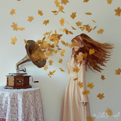 Listen to the Season (Elis's ☾) Tags: selfportrait autoritratto ritratto portrait autumn autunno foglie leaves season grammofono gramophone ascoltare listen suono song parete wall fairytale favola fiaba fable fantastic fantasia nature natura yellow giallo paint painting dress vintage square vortice wind vento conceptual concettuale fineart art arte artistic luce light redhair capellirossi redhead ragazza girl donna woman dipinto magia magic portfolio elisascascitelli canon5dmark3 2470mm music musica colorful poesia poetry delicacy delicate pastel pastello beauty beautiful wonderful elisphotography