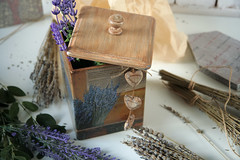 Lavender mood (Button-NK) Tags: lavender fragrance stilllife decoupage flowers box