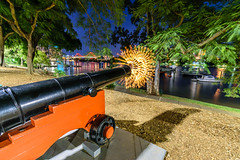 Cannon Fire, Brisbane (stephenk1977) Tags: australia queensland qld brisbane city botanic gardens night nikon d3300 cannon fire explosion lightpainting art light drawing strobe convoys2 lightflute