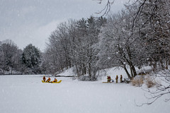 Staying Prepared (Brandon_Hilder) Tags: firefighters frozenlake lake park snow winter