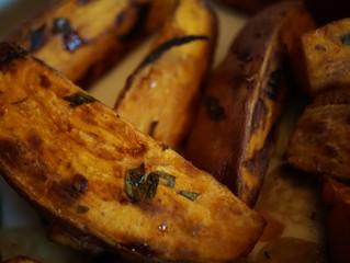 roasted sweet potato chips