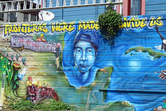 So Van Ness Grocery Outlet murals Mission District San Francisco 170419-125059 C4 (Wambeke & Wambeke Photography, Art, & Textiles) Tags: blue mural wallmural missiondistrictmurals socialmessagemural socialcommentary sinfronteras withoutborders charliewambekephotography charliesphotoart charliewambekephoto charliewambekephotograph canonpowershotsx50photograph canonsx50photograph canonsx50photo wambekewambekephotographyarttextiles wambekewambeke wambekeandwambekephoto wambekeandwambekephotography wambekewambekephotographyquiltingspecialists yellowtext fronterasweremadetodivideus bordersweremadetodivideus