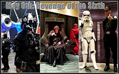 Happy May 6th: Revenge of the Sixth (Michel Curi) Tags: revengeofthesixth revengeofthe6th maythe4thbewithyou starwarsdaymaythefourthbewithyou starwars starwarscelebration starwarscelebrationorlando swco convention celebration darthvader r2d2 c3po lukeskywalker markhamill hansolo harrisonford princessleia carriefisher darkside theforceawakens rougueone lucasfilm theempirestrikesback battlefront bb8 droids cosplay fantasy collectables costumes tampabay slaveleia movies characters fiction artwork sciencefiction syfy jedi celebrities stormtroopers georgelucas tiefighter badrobot orangecounty orangecountyconventioncenter orlando florida lovefl easter collage internationaldrive pointing text comiccon comcon gente people retratos portraits three frame six sixth revengeofthesith