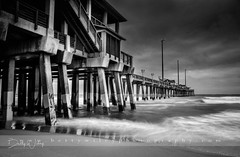 Turbulent seas - explored (betty wiley) Tags: storm nagshead northcarolina jeannettespier bettywileyphotography coast shore stormy beach pilings outerbanks