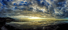 1688 - DSCF5663A flickr (tshoemaker) Tags: sunrise clouds morsepark murrellsinlet southcarolina terryshoemaker fujihs50camera panorama