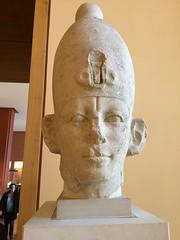 Head of Senusret III (radiowood) Tags: louvre egypt middlekingdom senusret