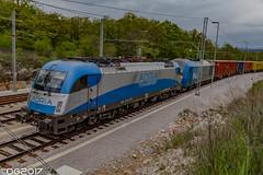 Adria 1216.921 (DavideEos) Tags: treno train zug eisenbahn ferrovia railway divača merci frieght binari güterzug siemens taurus es64u4 e190