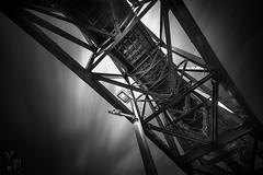 Red Belly (YOSHIHIKO WADA) Tags: blackandwhite longexposure hyperlongexposure metal bridge baybridge japan osaka architecture infrastructure lamp light 1424 formatt formatthitech