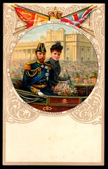 Liebig Tradecard - Prince and Princes of Wales, 1901 (cigcardpix) Tags: tradecards advertising ephemera vintage chromo liebig royalty artnouveau