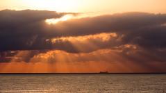 - Sky & Sea - (TessAnjel) Tags: photo photography sea boat sky paysage sunset sunrise soleil bateau mer wave vague water eau horizon ciel nuage cloud sun