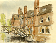 Teaching at Cambridge University: The Mathematical Bridge at Queen's College, 13th May 2017