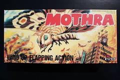 Mothra Tin Wind-Up Box (Billiken 1992) (Donald Deveau) Tags: mothra billiken tintoy windup toys toyphotography box toho japanesetoy japanesemonster kaiju toy illustration