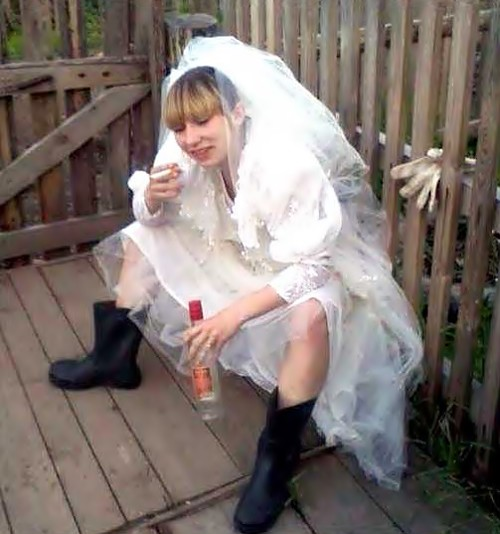 Bad-Wedding-Photos-Drunk-Bride-Smoking by Hot Model Tranzgender Philippines, on Flickr