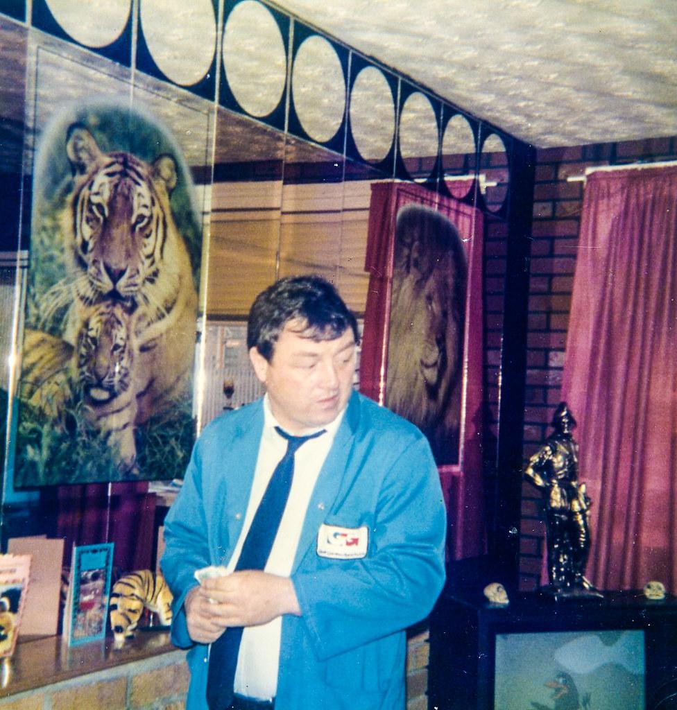 Robert Finnigan at home 1986