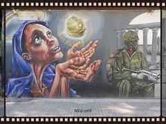 Pietà e Potere (iw2ijz) Tags: milano milan italia italy lombardia murales painting colonnedislorenzo