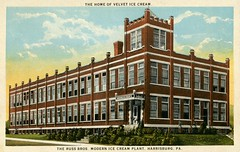 Russ Bros. Modern Ice Cream Plant, Harrisburg, Pa., 1920s (Alan Mays) Tags: ephemera postcards advertisingpostcards advertising advertisements ads paper printed russ russbros russbrothers russbrosmodernicecreamplant russbrosicecreamcompany manufacturers companies buildings architecture bricks velvet velveticecream icecream food illustrations red blue green 19thstreet nineteenthstreet manadastreet harrisburg pa dauphincounty pennsylvania 1920s antique old vintage typefaces type typography fonts