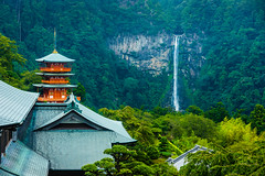 Kii peninsula, Japan (David Ducoin) Tags: seigantoji asia boudhism holywaterfall japan kii kumanokodo majestic nature religion shinto shrine temple waterfall wonder nachi jp