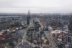 in.formation (jonathancastellino) Tags: abstract composite landscape series interferencepatterns architcture buffalo ny city newyork leica q roof rooftop rooftopping layer information road network ngc