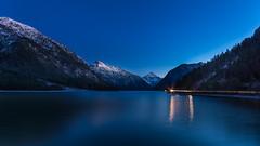 Blue hour (hjuengst) Tags: plansee blue blu lake reflection snow mountain austria tyrol tirol österreich bluehour reutte thaneller