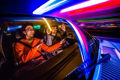 Let me drive... (Facebook : photographe.maximepateau) Tags: photo photography photographie lightpaintingen mouvement moving voiture car carro coche let me drive blue bleu azul strobism strobist nuit night maxime pateau