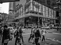 If you ask what the price is, you can't afford it! (TOXTETH L8) Tags: pittstreet pittstreetmall marketstreet sydneycbd nsw australia monochrome blackwhite commuters cars buses shops stores fashion