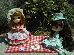 IMG_20170508_125055_ (applecandy spica) Tags: pullip dal monomono rotchan custom doll tea party picnic red mint green cute lovely loli victorian colors color colored outdoor handmade clothes accessories miniature rement puddle