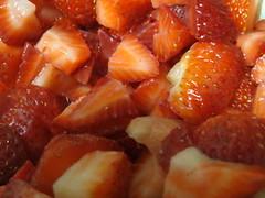 Fresh Cut Strawberries.